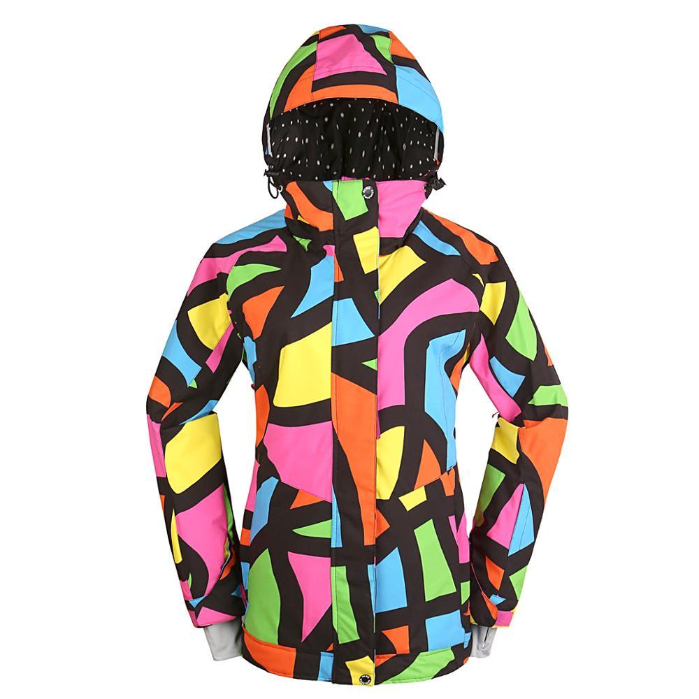 Новое поступление, куртки для сноуборда bluemagic, женский лыжный костюм, зимние уличные Водонепроницаемые зимние костюмы, женская одежда, тонкое пальто, дышащая - Цвет: picasso jacket