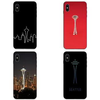 Soft Art Online Cover Case For Apple iPhone 4 4S 5 5S SE 6 6S 7 8 11 Plus X XS Max XR Pro Max Seattle Space Needle image