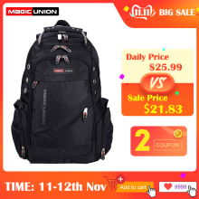 Travel-Bag Swiss Backpack Magic Union Design Waterproof Men's Brand Man Polyester