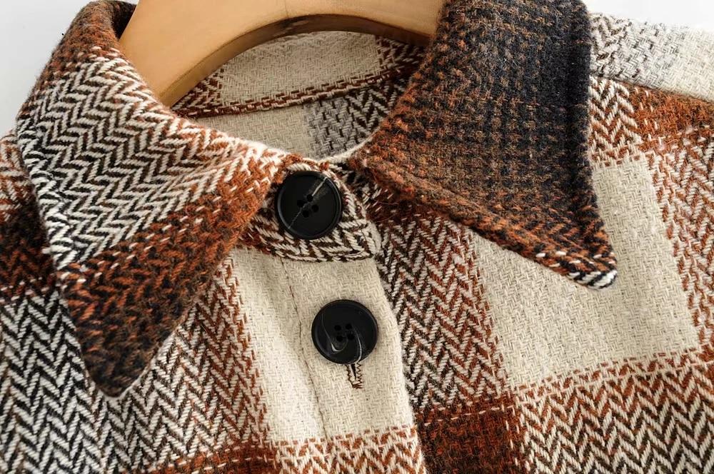 Hf10cd232553545c5b4ddf5ed84960b32c Vintage women 2019 long sleeve woolen coats fashion ladies thick plaid coat female streetwear elegant girls oversize jacket chic