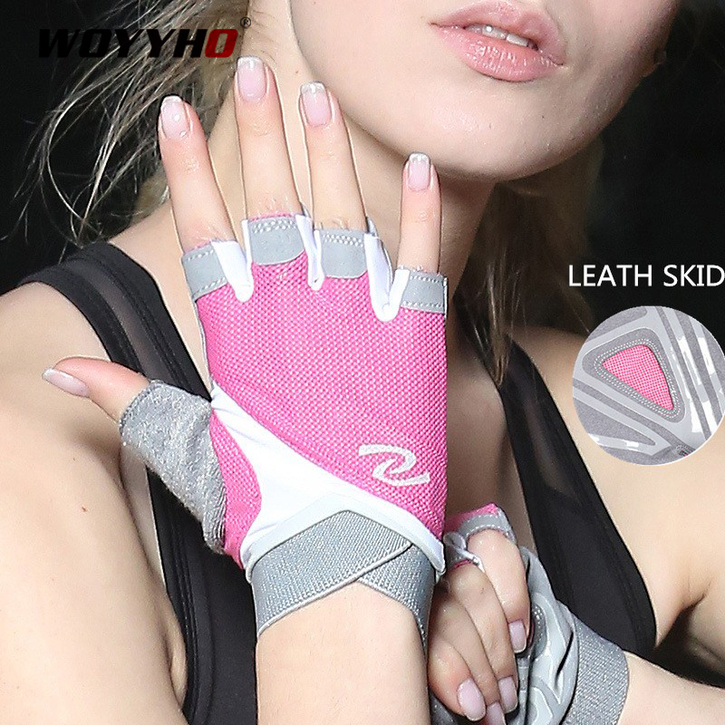 Professional Gym Gloves Women Weight Lifting Crossfit Workout Fitness Gloves Breathable Bodybuilding Half Finger Hand Protector 1