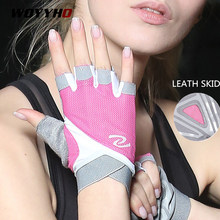 Gants de gymnastique professionnels femmes haltérophilie Crossfit entraînement Fitness gants respirant musculation demi doigt protège-main