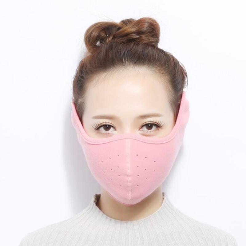 New Winter Men Women Cotton Dust Masks Respirator Ear Cover Warm Windproof Black Pink Outdoor Cycling Mouth Muffle Earmuffs TYFS