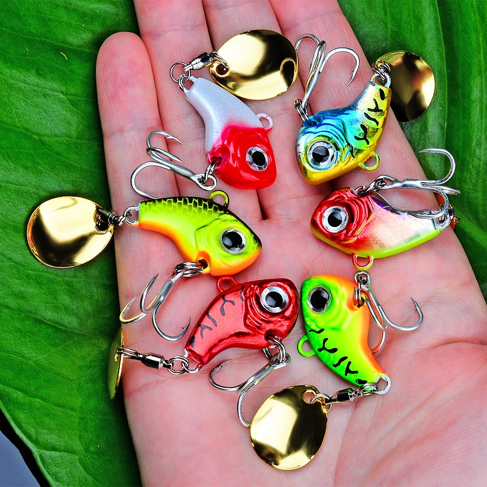 VIB Spoon Fishing Lure Fishing Tackle Pin Crankbait Vibration Spinner Sink Bait