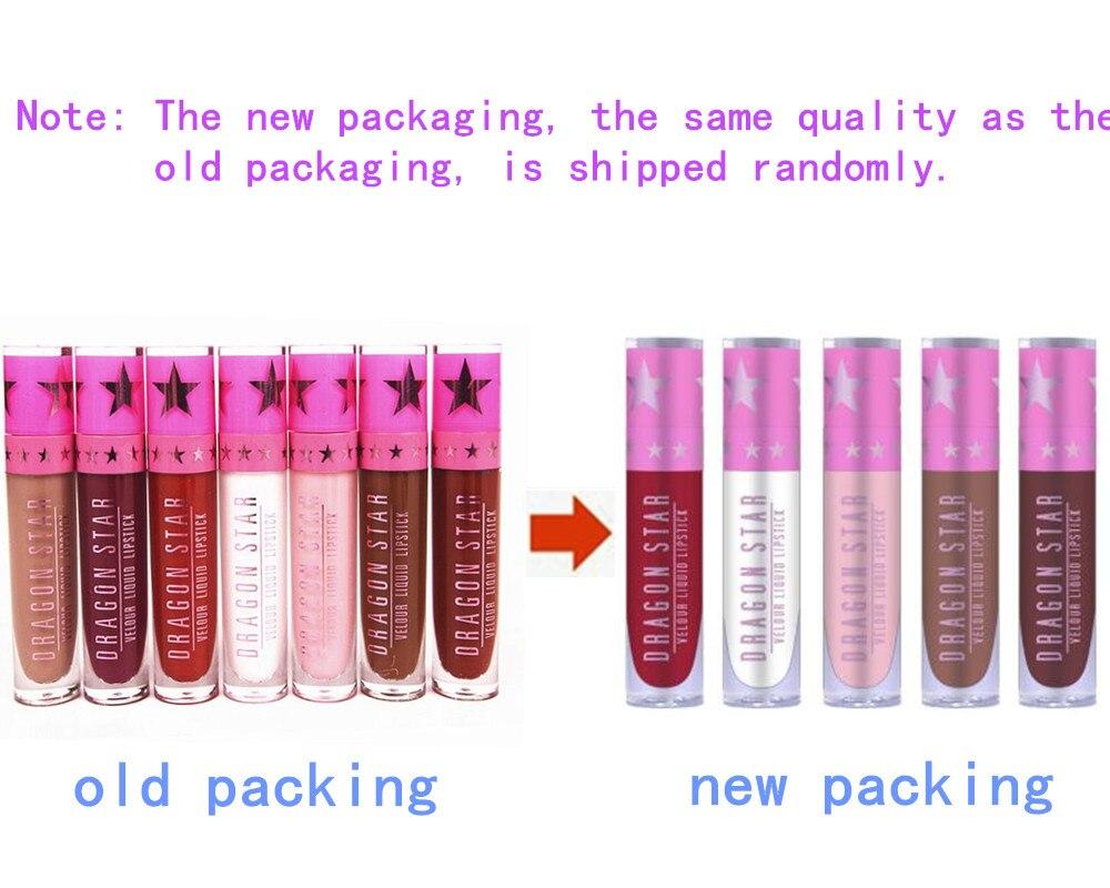 NEW Brand Dragon Stars Matte Lip Gloss Makeup Tint Liquid Matte Lipstick Velvet waterproof long lasting Beverly Hill lip kit 3