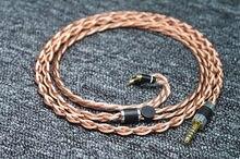 Tipo 6 único cristal cobre até occ mmcx 0.78 ie40 ie500 qdc fone de ouvido linha atualização
