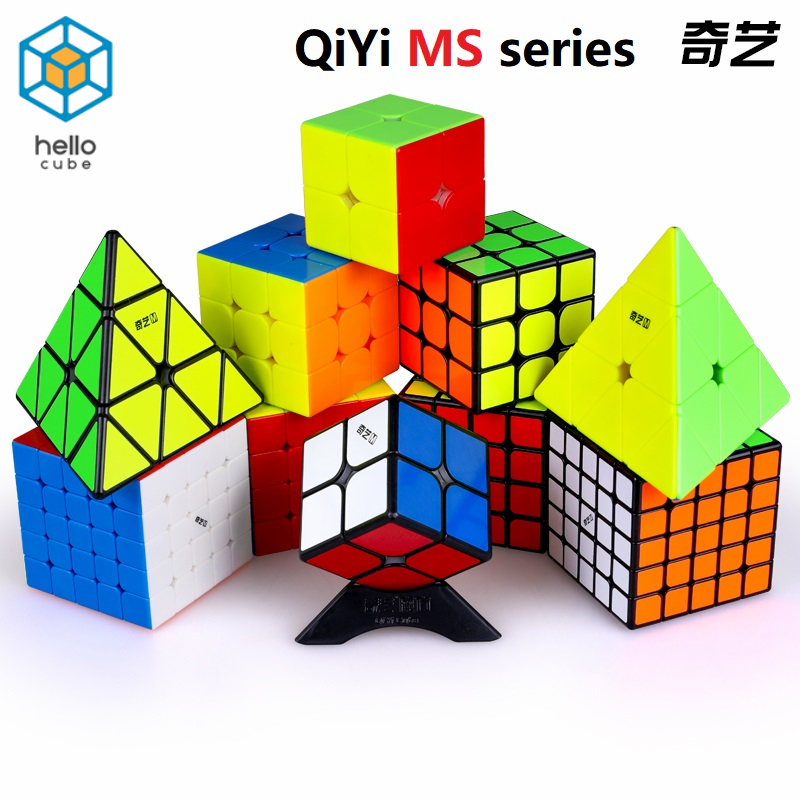 HelloCube Newest Qiyi MS Magnetic Series 2x2 3x3 4x4 5x5 Magnetic Version Magic Cube Toys  Jinzita Twisty Speed Puzzle