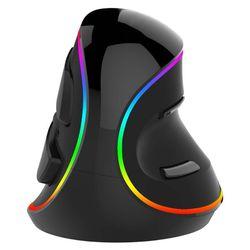 M618 PLUS ergonomia pionowa mysz do gier 6 przycisk 4000 DPI RGB prawa ręka Q6PA