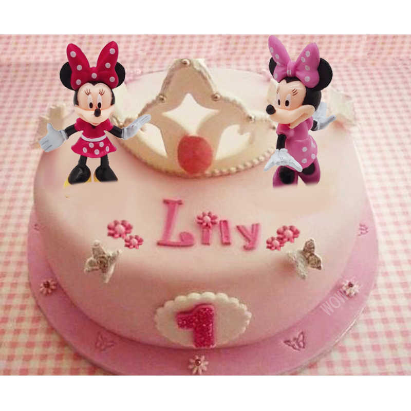 Incredible Mickey Minnie Mouse Daisy Goofy Pluto Cake Topper Dacoration Dolls Personalised Birthday Cards Vishlily Jamesorg