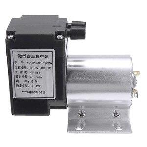 Image 4 - Mini bomba de aire de vacío eléctrica, bomba de diafragma de succión de alta presión, 5l/min, 80kPa, CC, 12V, con soporte para la industria química, 1 ud.