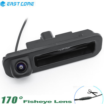 HD 1080P Car Rear View Camera Trunk handle Reverse Camera For Ford Focus 2012 2013 For Focus 3 2C 3C Rear Camera car reverse camera 175 degree 1080p parking rear view camera for mitsubishi asx 2011 2012 2013 2014 reversing car camera