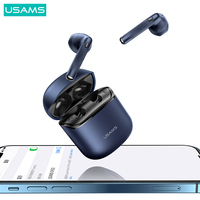 USAMS TWS 5.0 Bluetooth Headphones Wireless Stereo Earbuds 14.2mm Dynamic Headphones HiFi Earbuds For Android IOS Smartphones