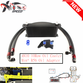 For Min* Coope* S R56 oil cooler + 10 row oil cooler AN10 10 rows oil cooler XXTOL10-10BL/BK