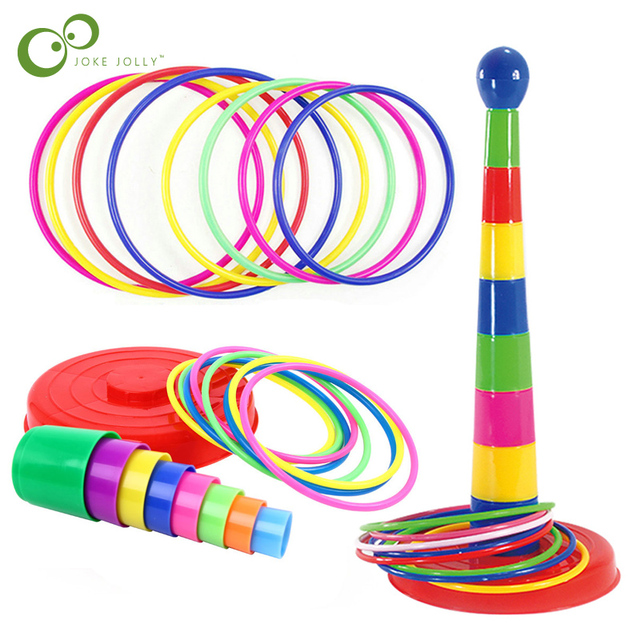 Children Outdoor Fun & Toy Sports Circle Ferrule Stacked Layers Game Parent-Child Interactive Ferrule Throwing Game Kids ZXH