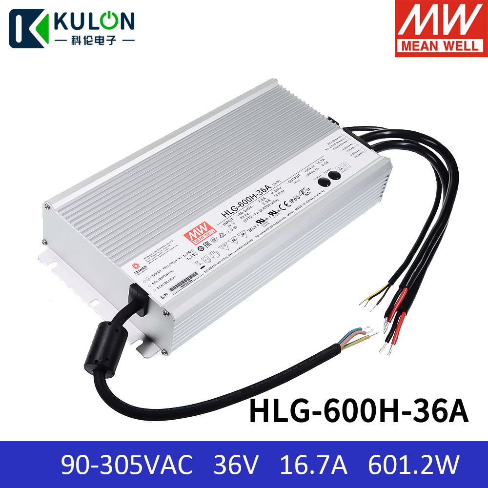 Mean Well HLG-40H-30B 30V 1.34A 40.2W Single Output Switching LED Power Supply with PFC PowerNex