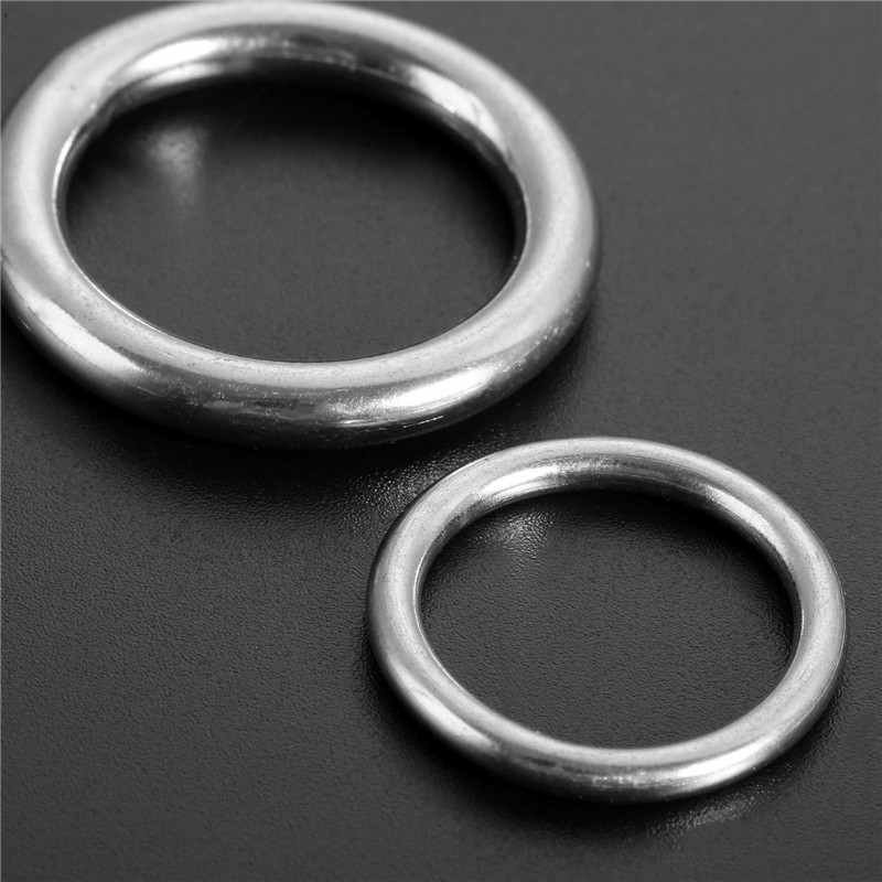 5pcs Smooth Welded Precision Polished 316 Stainless Steel Marine Boat Hardware Round O Rings Hammock Yoga Hanging Ring 20/25mm