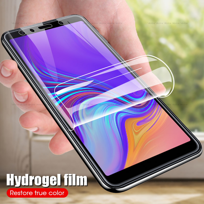 9D HD Hydrogel Film For <font><b>Samsung</b></font> <font><b>Galaxy</b></font> A7 <font><b>2018</b></font> Protector Film For <font><b>Samsung</b></font> A8 A9 Star Lite A6 A8 J6 <font><b>J4</b></font> Plus A9 <font><b>2018</b></font> A9S Not <font><b>Glass</b></font> image