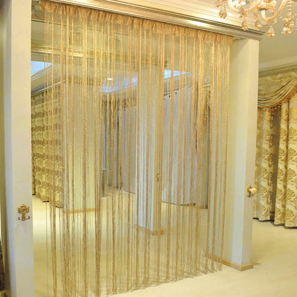string curtains patio net fringe for door fly screen treatments windows divider cut to size for living room bedroom kitchen