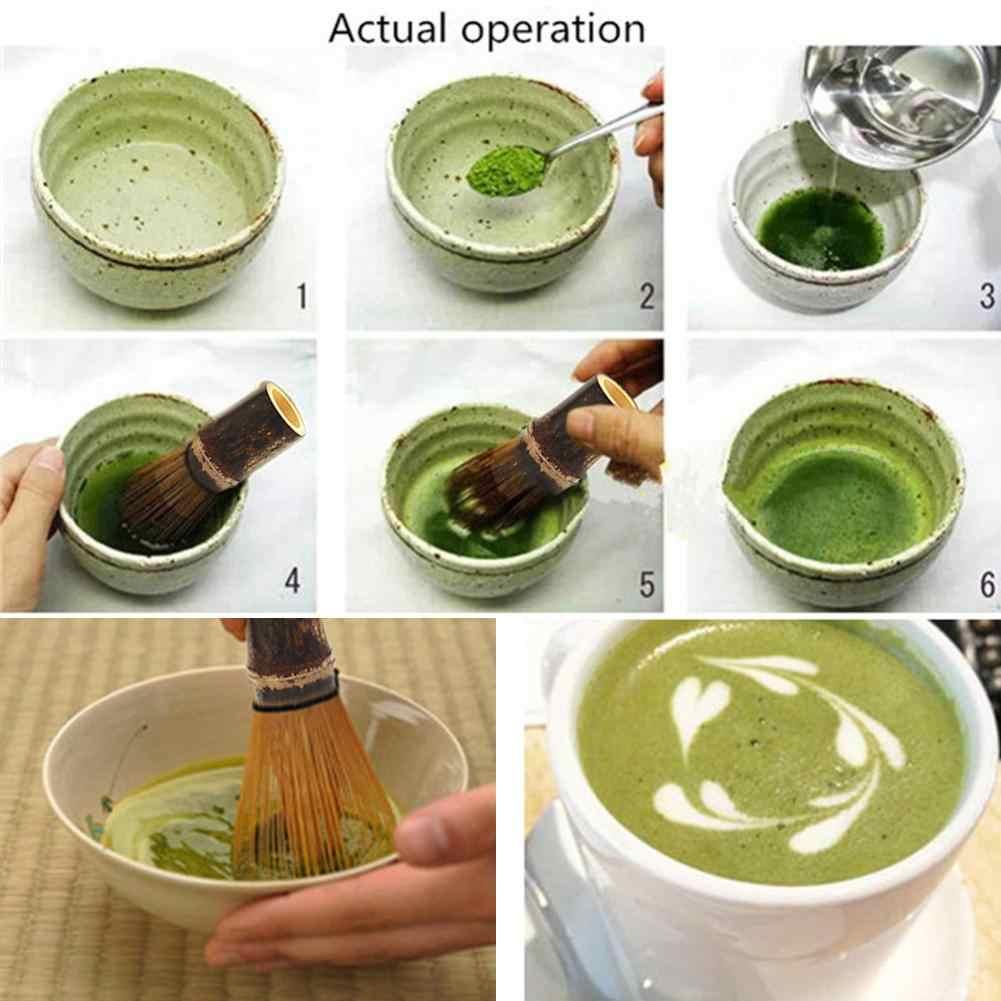 Бамбуковый чай скруббер смешивания щетка с длинной ручкой Matcha инструмент Японский чай церемония чайный набор венчик для чая