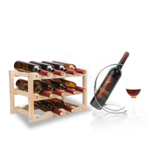 12Bottle Red Wine Rack DIY Beer Holder Kitchen Bar Solid Wood Shelf Room Wine Cabinet Hotel Drink Wine Bottle Rack Mount resin wine girl wine rack best bottle holder egyptian goddess wine stand accessories home bar decor wine holder gift