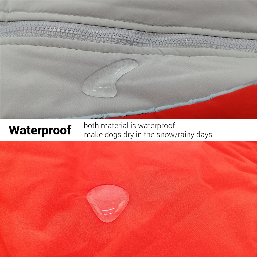 Waterproof and Reflective Dog Jacket Made with Polyester and Soft Fleece Material for Small Dogs 3