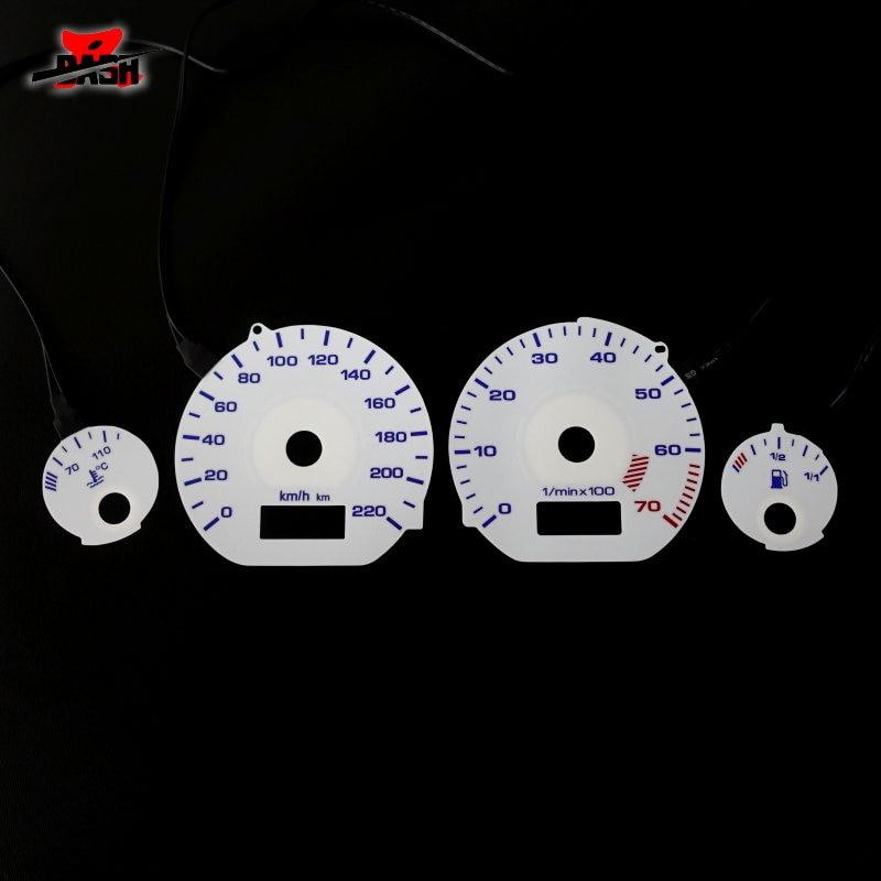 Dash Brand New El Glow Gauge For Golf Mk3 0 220 Km 7000 Rpm White Panel Reverse Blue Light Speedometers Aliexpress