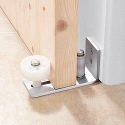 Stal nierdzewna regulowany uchwyt ścienny Stay Roller Barn prowadzenie podłogowe na sprzęt do drzwi stodoły w Mechanizmy do drzwi automatycznych od Majsterkowanie na