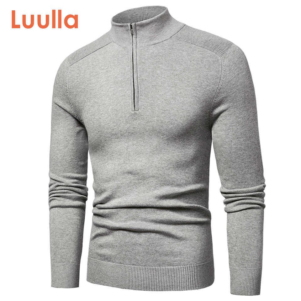 Luulla 남자 봄 새로운 캐주얼 코튼 터틀넥 스웨터 풀오버 남자 가을 패션 니트 우편 스웨터 자켓 남자 컬렉션
