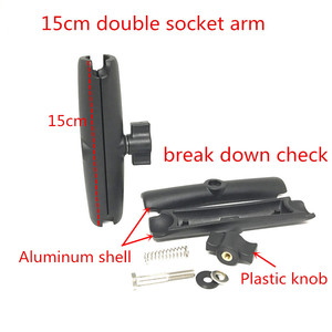 Image 2 - Jadkinsta כפול שקע זרוע כדור הר בסיס עגול עם חור AMPS דפוס עבור Gopro GPS נייד