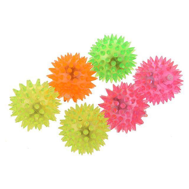 Kuulee 24 Pcs Random Color LED Flashing Spike Bounce