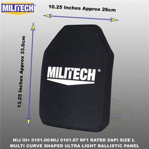 Image 3 - בליסטי פלייט Bulletproof NIJ רמת 3 + NIJ 0101.07 RF1 SAPI בגודל 1 PC קל במיוחד PE פנל נגד M80 & AK47 & M193 Militech
