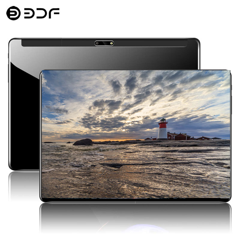 2.5D Steel Screen New 10.1 Inch Tablet Android 9.0 4G Phone Call Ten Core 8GB+128GB ROM Bluetooth Wi-FI Tablet PC+keyboard