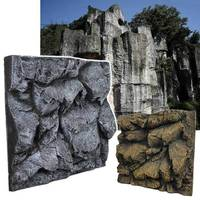 3D Rock Stone Aquarium Background Fish Tank Backdrop Reptile Boards Aquarium Landscaping Decoration Background 60X55X10cm