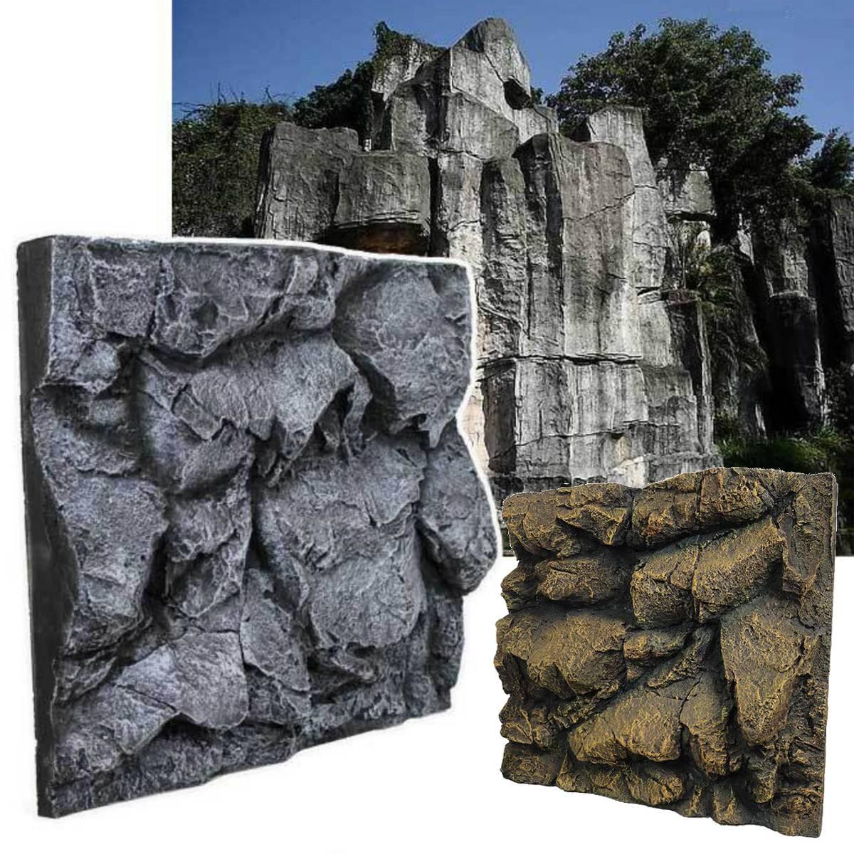 3D pierre de roche Aquarium fond poisson réservoir toile de fond Reptile planches Aquarium aménagement paysager décoration fond 60X55X10cm