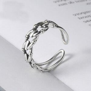 Женское Обручальное кольцо с открытым пальцем, винтажное ювелирное изделие из стерлингового серебра 925 пробы, эффектные обручальные кольца
