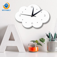 Modern Living Room Bedroom Background Wall Clocks Nordic Clock Cloud Mirror Home Decoration Accessories Wall Watches