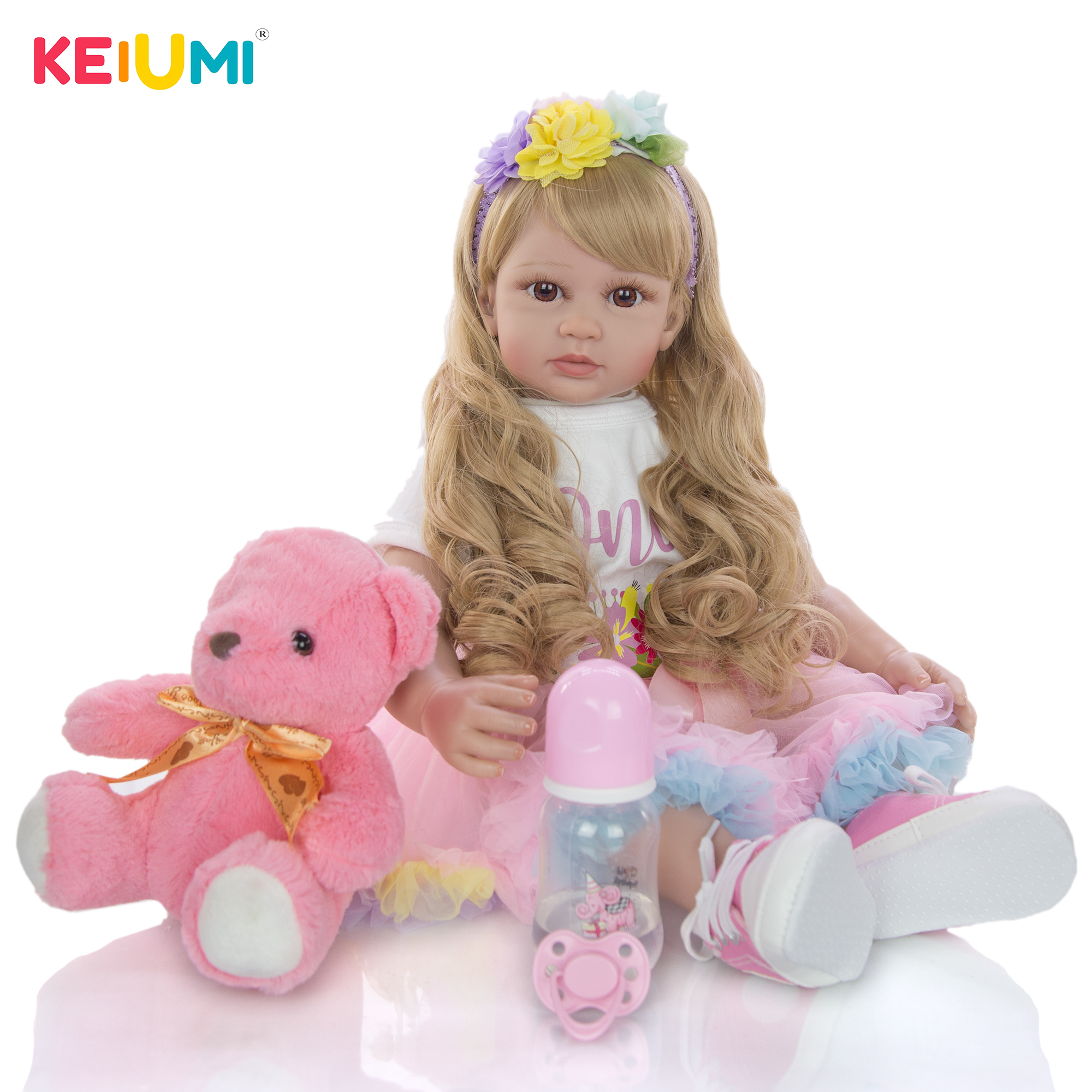 Кукла реборн тканевый, модная Кукла принцессы, подарок на день рождения, игровой домик, игрушка для девочек, 60 см, 24 дюйма