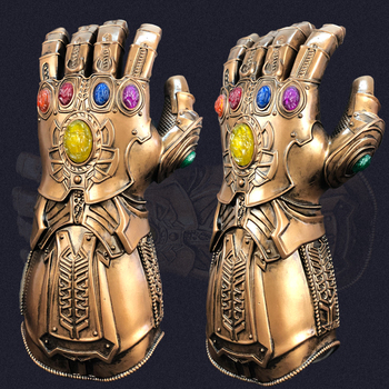 Thanos Gloves Gauntlet Cosplay Superhero Mask Arm Halloween Party Costume Props