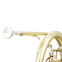 Профессиональный французский Рог мундштук Золотой наконечник, покрытый металлом медный сплав металлический музыкальный инструмент