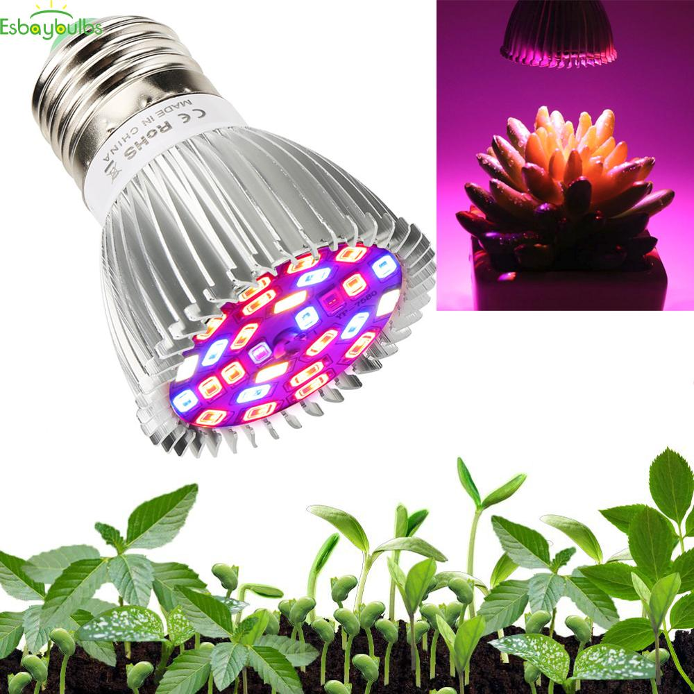 18W 28W LED Grow Light Bulb - Full Spectrum Lamp For Indoor Plants, Garden, Flowers, Vegetables, Greenhouse & Hydroponic Growing