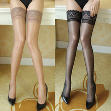 Sexy Fishnet Stocking Pantyhose Hollow Out Stockings for Women Lace Top High Thigh Tights Pantyhose Transparent Medias De Mujer