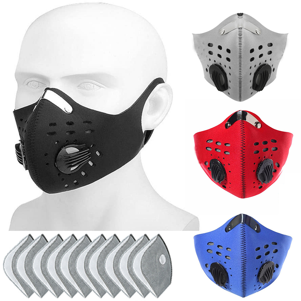 Cycling Mask PM2.5 Mask Filter Dust Mask With Earloop Activated Carbon With Filter Anti-Pollution Bicycle MTB Bike Face Mask D30