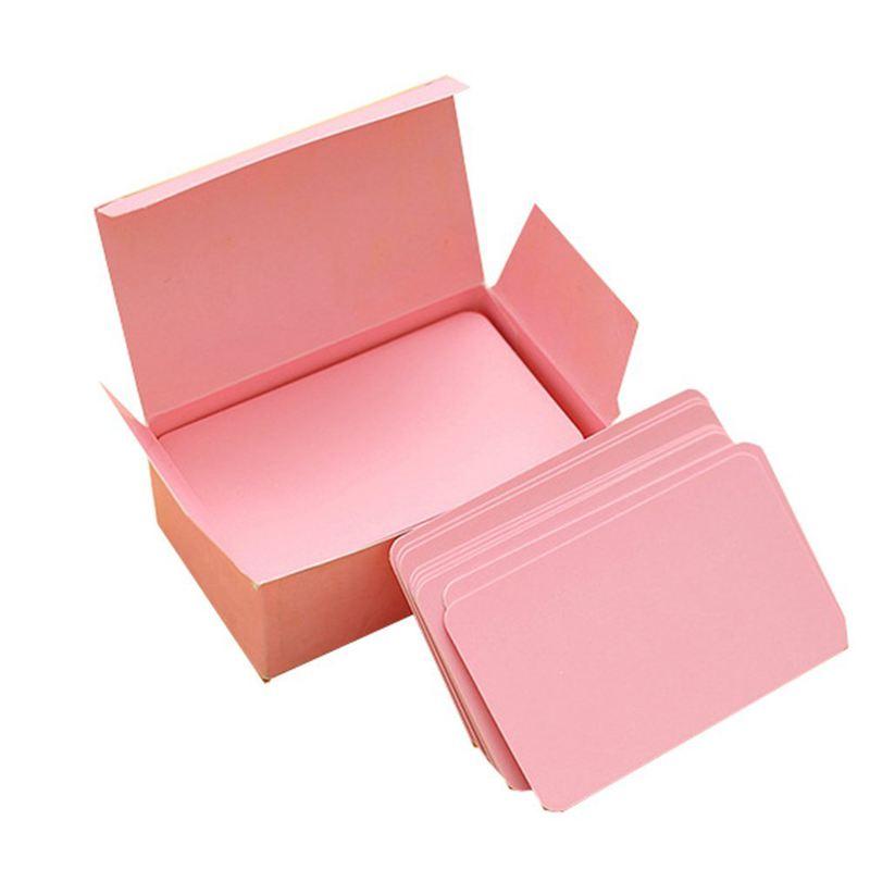 100 Memory Cards Blank DIY Graffiti Word Cards Net Small Memo Pad Blocks Memorandum Note Blank Word Cards