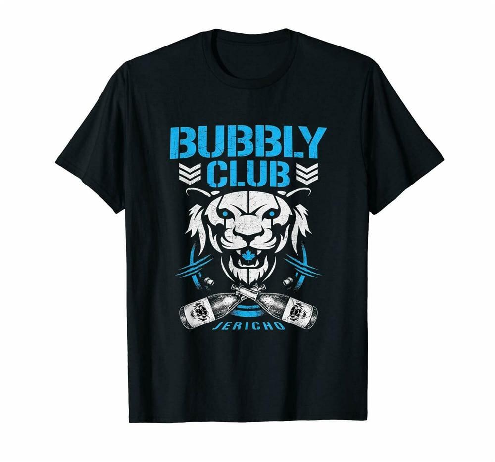 Bubbly Club Chris Aew Njpw Jericho Bit Of The Bubbly Parody Black T-Shirt S-3Xl Basic Models Tee Shirt