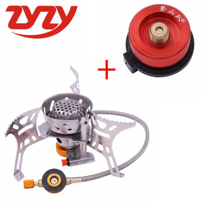 ZYZY-17 High Power Super Windproof Stove Mini Portable Split Type Outdoor Stove Cooker Picnic Gas Stove Adapter Camping Stove