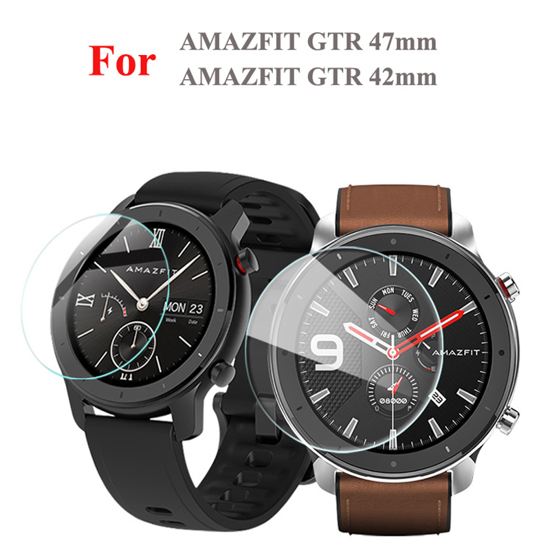 2PCS Screen Protector Film For AMAZFIT GTR 42/47mm High Clear Protective Glass 9H Explosion Proof/Scratchproof Tempered Glass