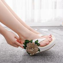 Woman Slippers Sandals Platform High-Heel Sexy Beach Casual Summer Lady Crystal-Queen