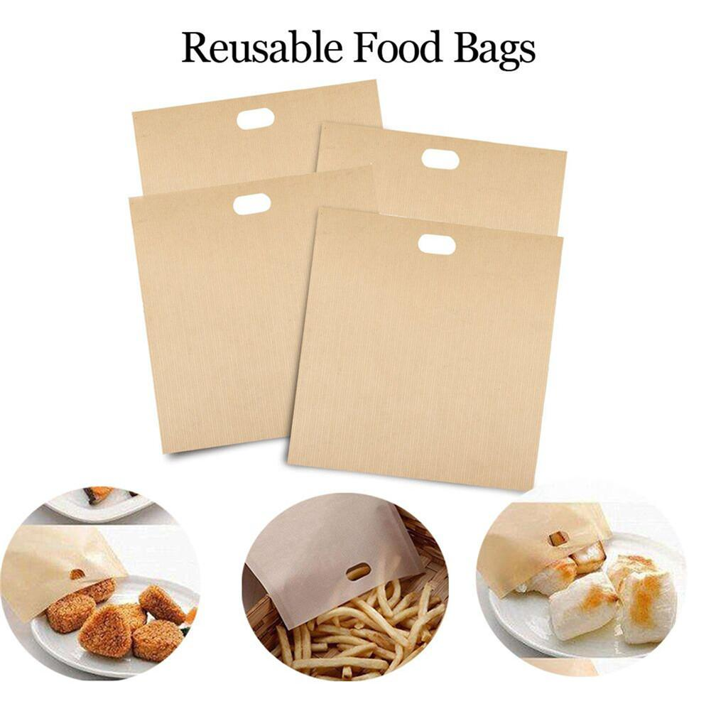 10pcs Toaster Bags Non-stick Teflon Bread Bags Cooking Bag Toasting Accessories For Grilled Cheese Sandwiches,20*22cm image