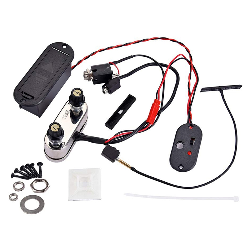 Professional Violin Pickup Set, Electric Violin Piezo Pickup Amplifier Music Instrument Accessories, Piezo Transducer Bridge Set