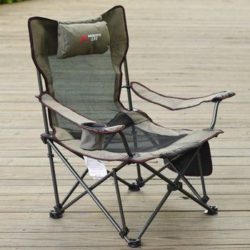 Beach Chair with Bag Portable Folding Chairs Fishing Camping Seat Stainless Steel Oxford Cloth Seat Outdoor Patio Furniture